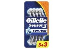 Gillette Sensor 3 Ξυραφάκια μιας Χρήσης, (5+3 ΔΩΡΟ) τεμάχια