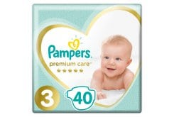 Pampers Premium Care Value Pack No.3 (Midi) 5-9 kg Βρεφικές Πάνες, 40 τεμάχια