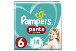 Pampers PantsCarry Pack No.6(Extra Large) 16+kg Βρεφικές Πάνες Βρακάκι, 14 τεμάχια
