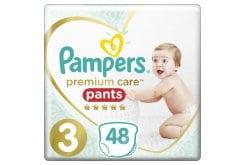 Pampers Premium Care Pants No.3 (6-11kg) Πάνες Βρακάκι, 48 τεμάχια