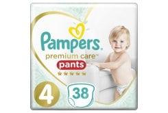 Pampers Premium Care Pants No.4 (9-15kg) Πάνες Βρακάκι, 38 τεμάχια