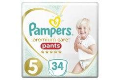 Pampers Premium Care Pants No.5 (12-17kg) Πάνες Βρακάκι, 34 τεμάχια