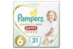 Pampers Premium Care Pants No.6 (15+kg) Πάνες Βρακάκι, 31 τεμάχια