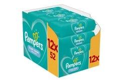 Pampers Fresh Clean Wipes Μωρομάντηλα με υπέροχο άρωμα φρεσκάδας, 12 x 52 τεμάχια