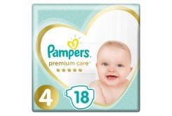 Pampers Premium Care Carry Pack No.4 (Maxi) 8-14 kg Βρεφικές Πάνες, 18 τεμάχια