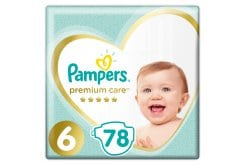 Pampers Premium Care No.6 (13+kg) Πάνες, 78 τεμάχια