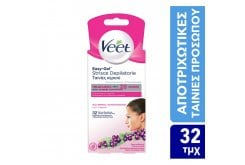 Veet Wax Strips for Hair Removal for the Face, 32pcs