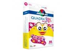Masteraid Quadra Girls Παιδικά Τσιρότα Με Σχέδια Για Κορίτσια, 20 τεμάχια