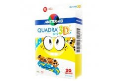 Masteraid Quadra Boys Παιδικά Τσιρότα Με Σχέδια Για Αγόρια, 20 τεμάχια
