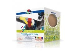 Masteraid  Performance Tape - Kinesio Tape Ελαστικό Αυτοκόλλητο Επίθεμα Σε Μπέζ Χρώμα, 5m x 5cm