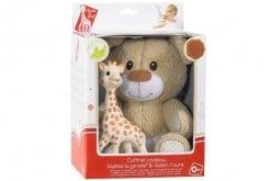 Sophie la Girafe Gift Set 850516 Σόφι η καμηλοπάρδαλη, 1 τεμάχιο & Γκάμπιν λούτρινος αρκούδος, 1 τεμάχιο