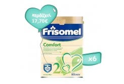 6 x Frisomel Comfort 2 Pack, Special Diet Milk for Infants with Gastroesophageal Reflux or Constipation, from the 6th Month on, 6 x 400gr