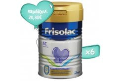 Package 6 x Frisolac AC Special Nutrition Milk Powder with Highly Hydrolyzed Milk Protein, 6 x 400g