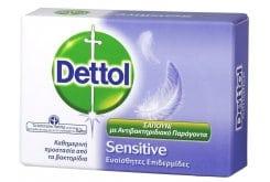 DETTOL Soap Sensitive, Μπάρα Σαπουνιού, 100 gr