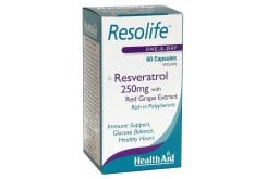 Health Aid Resolife, Resveratrol 250mg, 60 caps