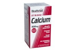 Health Aid CALCIUM Strong + Vit D, 60 μασώμενες ταμπλέτες