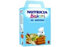 Nutricia Biskotti, Βρεφικά μπισκότα από τον 6ο μήνα, υγιεινά ενδιάμεσα γεύματα σνακ, με 6 δημητριακά, προσφέρουν ευχάριστη ανακούφιση στα πονεμένα ούλα, 180gr