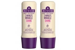 Aussie 3 Minute Miracle Shine (1+1 ΔΩΡΟ) Βαθιά Θεραπεία 3' για Θαμπά & Ξηρά Μαλλιά, 2 x 250 ml