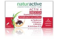 Naturactive Activ 4 Συμπλήρωμα Διατροφής για την ενίσχυση του Ανοσοποιητικού Συστήματος στο Κρυολόγημα, 28caps