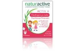 Naturactive Activ 4 Junior Συμπλήρωμα Διατροφής για την ενίσχυση του Ανοσοποιητικού Συστήματος των Παιδιών 3+ ετών, με Γεύση Φράουλα, 14 sachets