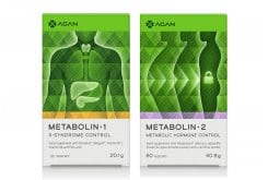 Agan Promo Pack with Metabolin-1 To Prevent & Treat Metabolic Syndrome, 60vcaps & TOGETHER Metabolin-2 Stabilizes Body Weight & Balances Metabolic Hormones, 60vcaps