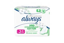 Always Cotton Protection Size 2 Long Σερβιέτες, 10 τεμάχια