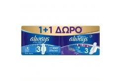 Always (1+1) Ultra Night Σερβιέτες Size 3, 7τμχ & Ultra Night Platinum Σερβιέτες Size 3, 6τμχ