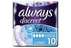 Always Discreet Lady Σερβιέτες Για Ακράτεια Long Size 4, 10τμχ