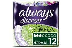 Always Discreet Lady Σερβιέτες Για Ακράτεια Normal Size 3, 12τμχ