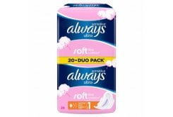 Always Sensitive Ultra Normal Plus Duo Pack Σερβιέτα Απαλή σα Βαμβάκι, 20 τεμάχια