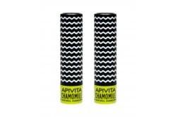 2 x Apivita (1+1) Lip Care Chamomile Balm Χειλιών με Χαμομήλι, 2 x 4.4 gr