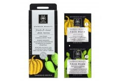 Apivita LIMITED EDITION Fresh & Clear Skin Menu – Face Masks Pumpkin & Prickly pear, 2 x 8ml