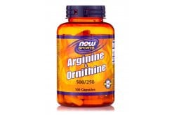 Now L Arginine & L Ornithine 500/250 mg, 100 caps