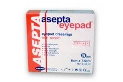 Asepta Eye Pad Οφθαλμικά επιθέματα non woven γάζας αποστειρωμένα 6cm x 7.5cm 5 τεμάχια