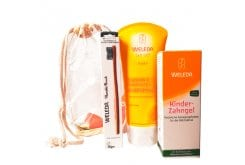 Weleda SET with Children's Tooth Gel, 50ml, Calendula Shampoo and Body Wash, 200ml & GIFT Humble Toothbrush