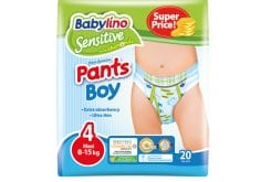 Babylino Pants Boy Maxi Νο.4 (8-15 kg) Απορροφητικές & Πιστοποιημένα Φιλικές Παιδικές Πάνες Βρακάκι, 20τεμάχια