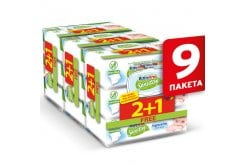 9 x Babylino Sensitive with Camomile (2+1 ΔΩΡΟ) Μωρομάντηλα με Χαμομήλι Χωρίς Άρωμα (9 x 54), 486 τεμάχια