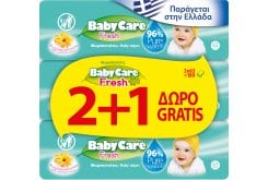 3 x Babylino Baby Care Fresh (2+1 GIFT) Wipes with Calendula Extract, 3 x 63 pcs