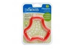 Dr. Brown's TE 101 Κρίκος Οδοντοφυ?ας για Κορίτσι, 1 τεμάχιο - Κόκκινο