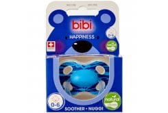 Bibi Happiness Wild Baby Soother Φυσική Πιπίλα Σιλικόνης 0-6m, 1 τεμάχιο - Γαλάζιο