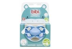 Bibi Happiness Wild Baby Soother Φυσική Πιπίλα Σιλικόνης 6-16m, 1 τεμάχιο - Γαλάζιο