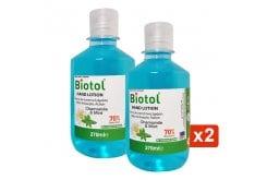 Biotol Hand Lotion Mild Antiseptic Action, Λοσιόν 70 Βαθμών Με Ήπια Αντισηπτική Δράση, 2x270ml