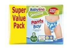 Babylino Pants Boy Extra Large Νο.6 (16+ kg) Value Pack Απορροφητικές & Πιστοποιημένα Φιλικές Παιδικές Πάνες Βρακάκι, 28 τεμάχια