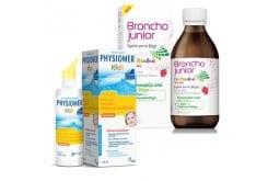 Παιδικό Πακέτο για Αντιμετώπιση Κρυολογήματος με Broncho Junior Σιρόπι για τον Βήχα, 200ml & Physiomer Kids Ρινικό Σπρέι με 100% Θαλασσινό Νερό, 115ml