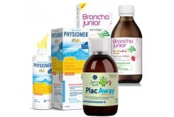 Children's Package for Cold Treatment with Broncho Junior, 200ml & Physiomer Kids, 115ml & Plac Away Junior Teeth Oral Solution, 250ml