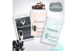 Vichy Pack Mineral Multimasking for Detoxification, Shine & Intensive Hydration with Detox Clarifying Charcoal Mask, 2 x 6ml & Double Glow Peel Mask, 2 x 6ml & Quenching Mineral Mask, 2 x 6ml