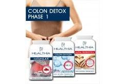Healthia PROMO Colon Detox Phase 1 Bowel Detoxification Pack, 3 items