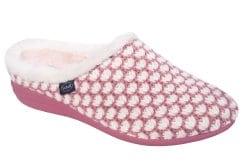 Scholl Creamy Pink/White