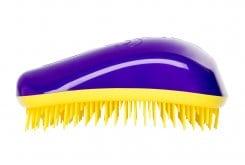 Dessata , επαναστατική βούρτσα μαλλιών που ξεμπερδεύει απαλά τα μαλλιά , ακόμα και όταν είναι βρεγμένα - Μωβ - Κίτρινο