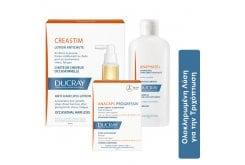 Ducray Ολοκληρωμένη Λύση για την Τριχόπτωση Creastim Lotion, 2 x 30ml & Anacaps Progressiv, 30 caps & Anaphase+ Shampoo, 400ml Αγωγή με Λοσιόν, Σαμπουάν & Συμπλήρωμα Διατροφής, 3 τμχ